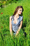 Relax in spring field Royalty Free Stock Images