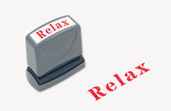 Relax stamper Royalty Free Stock Image