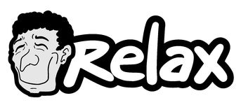 Relax sticker Royalty Free Stock Images