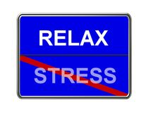Relax and stress sign Royalty Free Stock Image