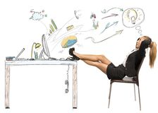Relax and success in business Stock Photo