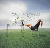 Relax and success in business Royalty Free Stock Photo