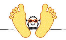 Relax & summer. Hand drawn cartoon character stock illustration