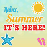 Relax, summer is here poster Royalty Free Stock Image