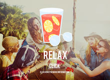 Relax Summer Rest Relaxation Chill Concept stock image