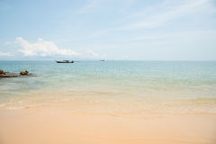 Relax in summer time on sand beach island nature Royalty Free Stock Image