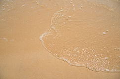 Relax in summer time on sand beach island nature with water wave Royalty Free Stock Photography