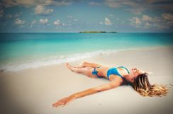 Relax and sunbathing Royalty Free Stock Photo
