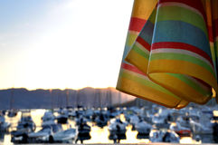 Relax at sunset in Lerici port Royalty Free Stock Photos