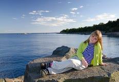 Relax on Swedish coast Stock Photos