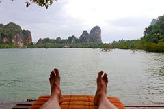 Relax in Thailand beach. Stock Photos