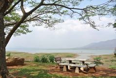 Relax time. At Bangpra reservoir Stock Image