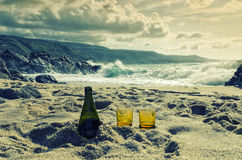 Relax time on the beach in Calabria, Italy Royalty Free Stock Images