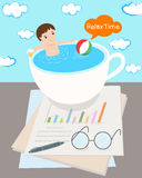 Relax time for businessman Royalty Free Stock Photo