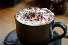 Relax time with Coffee and cookies. In coffee cafe royalty free stock photography