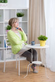 Relax time at home Royalty Free Stock Image