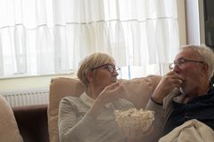 Relax time with husband. stock images