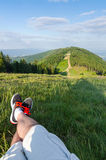 Relax time in mountains Stock Image