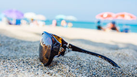 Relax time on spanish beach Royalty Free Stock Image
