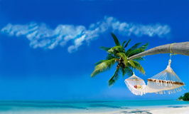 Relax on a tropical beach Royalty Free Stock Images