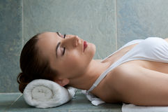 Relax at turkish bath stock images