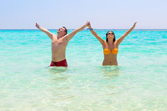 Relax in the turquoise water of Red Sea Royalty Free Stock Photo