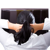 Relax at the TV Royalty Free Stock Image