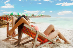 Relax under sun Royalty Free Stock Photo