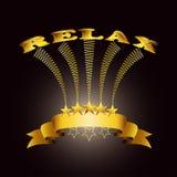 Relax vector label Stock Photo