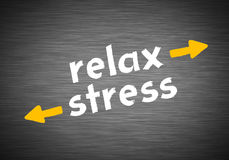 Relax versus stress Royalty Free Stock Photo