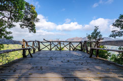 Relax at View Point of White Elephant Mountain Stock Photography