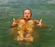 Relax in the water. Stock Photo