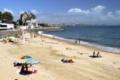 Relax week-end. Small village of Casquais, Portugal, near Atlantic ocean Stock Images
