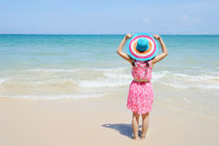 Relax Woman on the beach Stock Photography