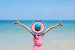 Relax Woman on the beach Stock Photos