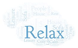 Relax word cloud. Wordcloud made with text only vector illustration