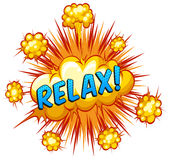 Relax. Word relax with explosion background vector illustration