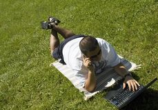 Relax and Work Stock Photo