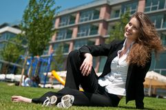 Relax during work - business person Royalty Free Stock Images