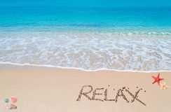 Relax writing Stock Photography
