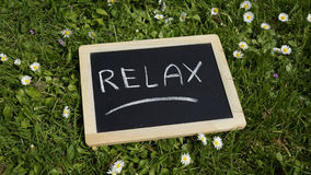 Relax written Royalty Free Stock Images