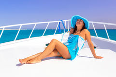 Relax on the yacht cruise Stock Image