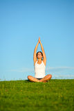 Relax and yoga outdoor Stock Photo