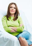 Relax young woman Royalty Free Stock Photo