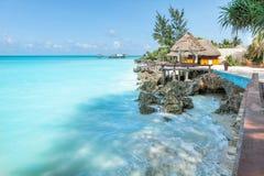 Relax on Zanzibar. Beautiful beach on island Zanzibar Stock Photos