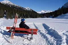 Relax in Zugertal, Voralberg, Austria Royalty Free Stock Photo