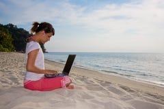 Relaxamento e trabalho Imagem de Stock