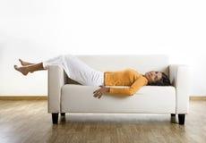 Relaxamento em casa Imagem de Stock Royalty Free