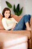 Relaxamento em casa Fotos de Stock Royalty Free