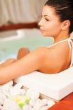 Relaxamento na banheira de hidromassagem Foto de Stock Royalty Free